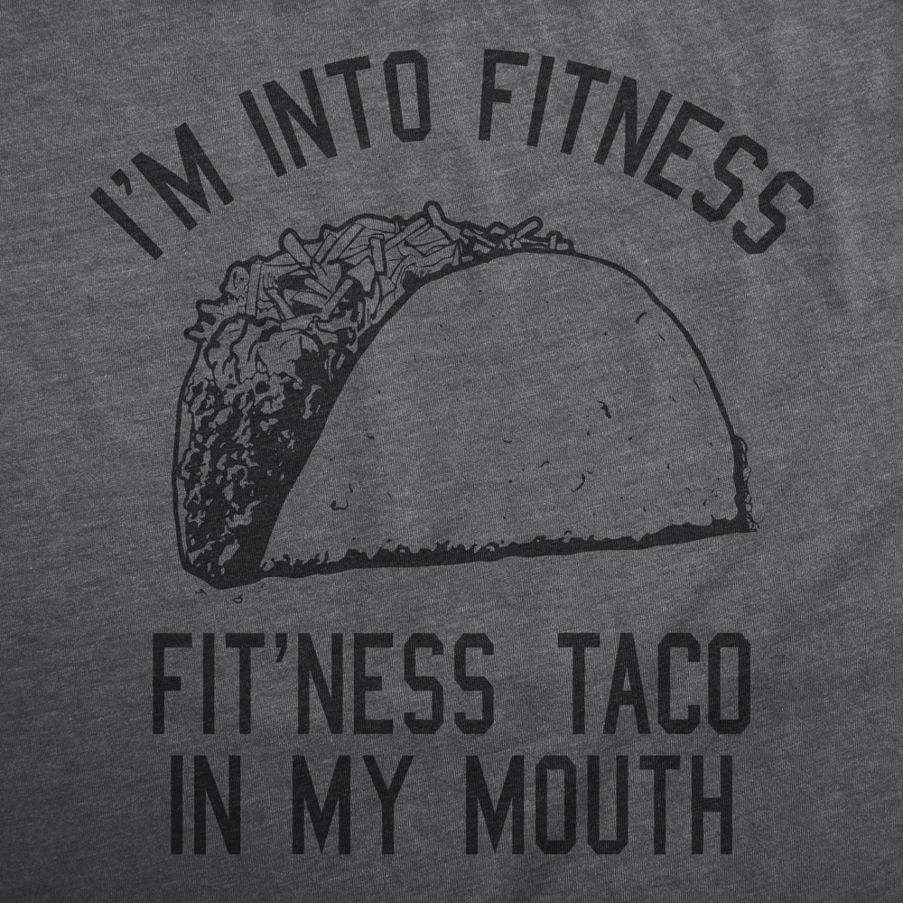 5e09f147 Mens Fitness Taco Funny T Shirt Humorous Gym Mexican Food Tee For Guys -  Thumbnail 1