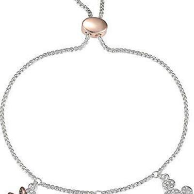59d29bfeb Disney minnie & mickey crystal elements slider bracelet two tone
