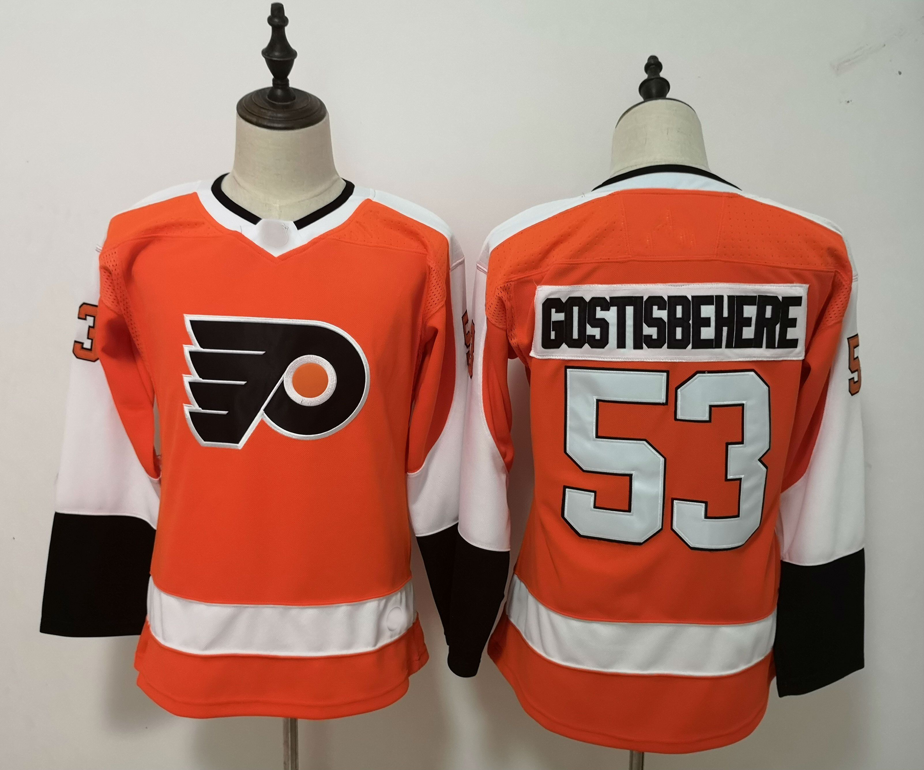separation shoes bc7ec 91b51 2019 Women NHL #53 Shayne Gostisbehere Philadelphia Flyers Authentic Player  Jersey
