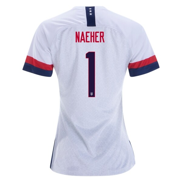 806866458 Naeher  1 Women s US National Team Home Soccer Jersey USWNT WWC ...