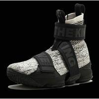 promo code afcdf 03aea KITH x Nike LeBron XV LIF Concrete AO1068 100 Sail String White Black  Basketball Shoe from BELLDRESS