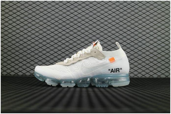 the latest 4f812 3016f Le Scarpe Alla Moda OFF-WHITE x Nike Air VaporMax 2018 Flyknit AA3831 100  FK White Total Crimson Black Blanc Total Crimson Noir Shoe VaporMax from ...