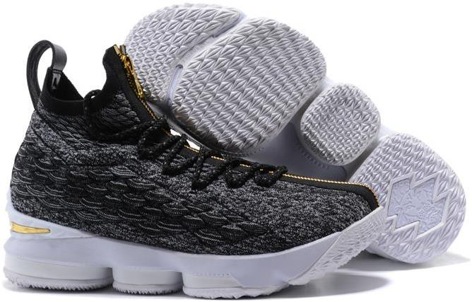 new concept 18a4b 719ab Nike LeBron 15 Black/Gold-White For Sale from BELLDRESS