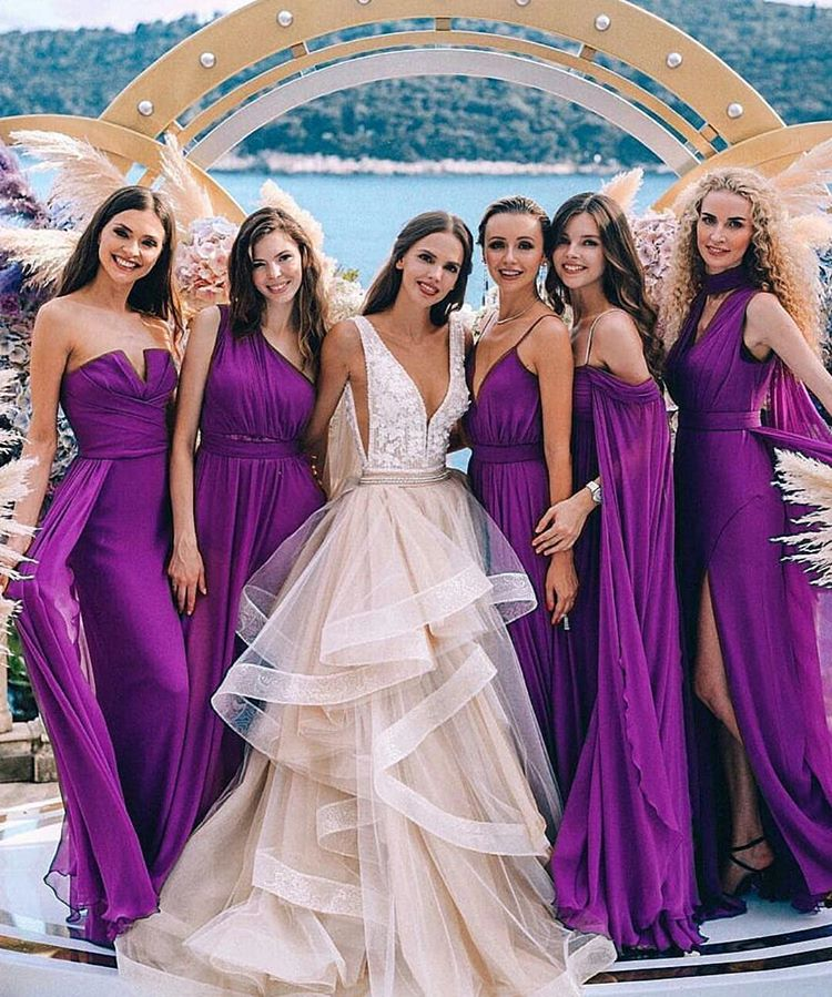 99e69c39786eb Sexy Mermaid Purple Bridesmaid Dresses Multiway dresses,Free Shipping>3  pieces