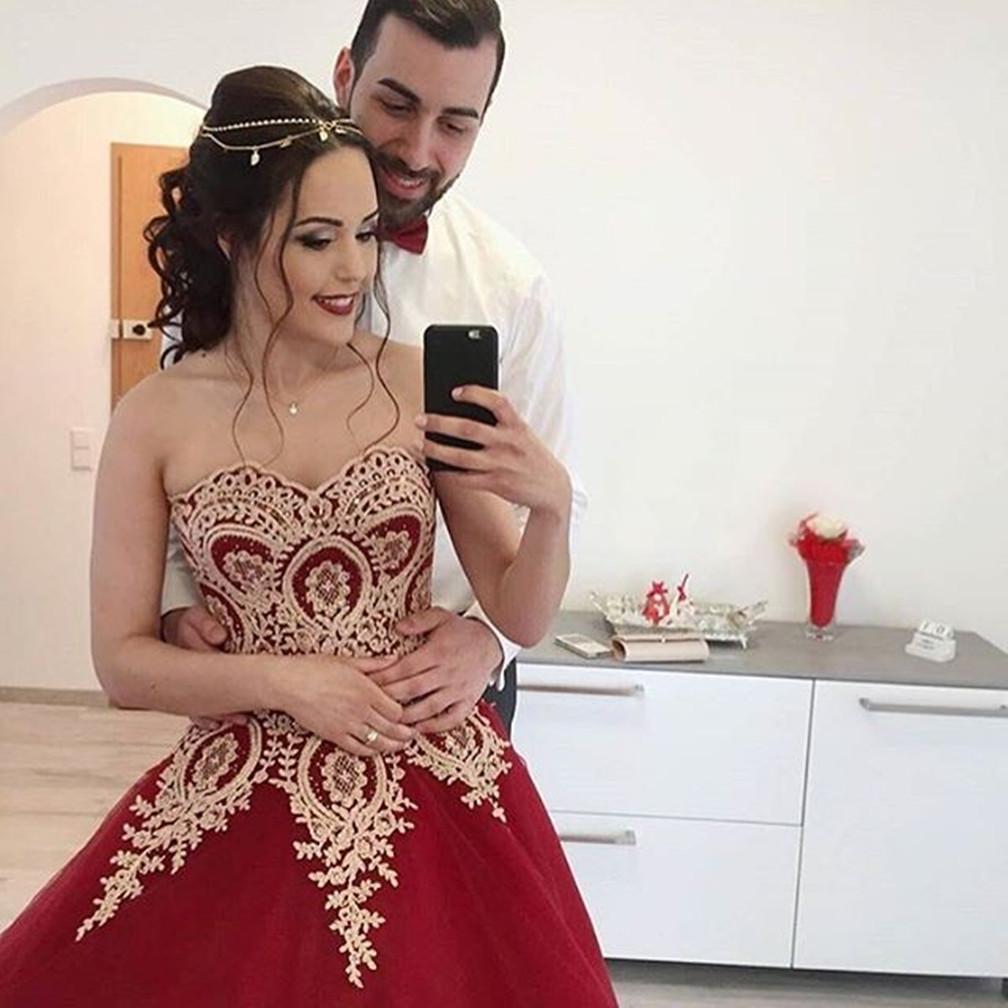 Wine Red Wedding Dress,Burgundy Wedding Gowns,Ball Gown Wedding  Dresses,Bridal Dress, Burgundy Prom Dress, Luxury Wedding Dress,386