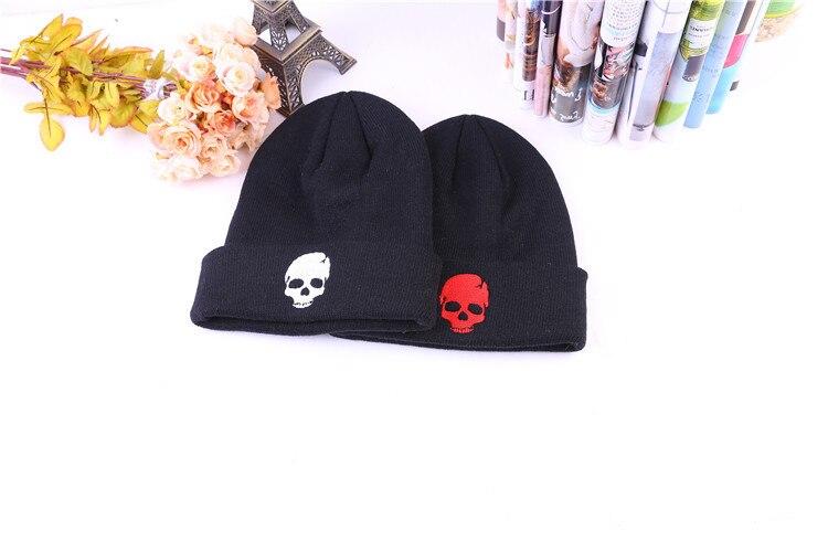 f17a58e3828b99 Skullies Skull Beanies Winter Bonnet Warm Hat Caps Women Men's 2016 ...