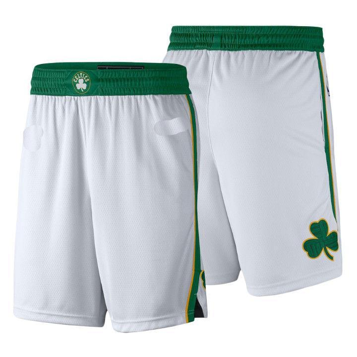 b2b3da74639 2019 Men's Boston Celtics City Edition Swingman Performance Shorts ...