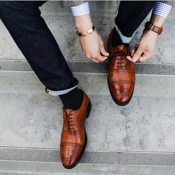 Shoes, Men Cap Toe dress shoes