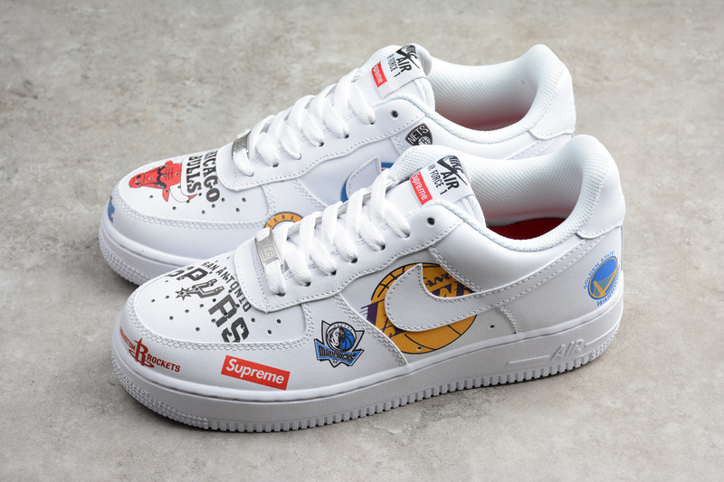 size 40 0b635 07e26 Nike x Supreme x NBA Air Force 1 Mid 07 white AF1 Shoes sold by ivicente