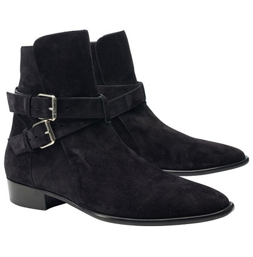 8fc9a3218fc Handmade Men black Suede leather Jodhpurs Ankle boots, Men casual Style  wedding boots