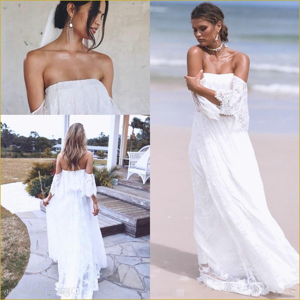 Charming Elegant White Lace Long Beach Wedding Dresses,Bridal Dresses ·  21weddingdresses · Online Store Powered by Storenvy