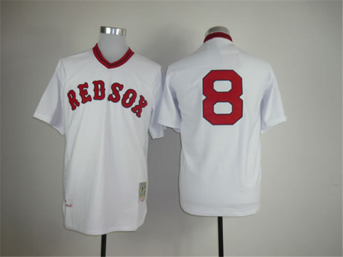 best website e5735 8c4ff Men Boston Red Sox #8 Carl Yastrzemski Jersey Stitched - white