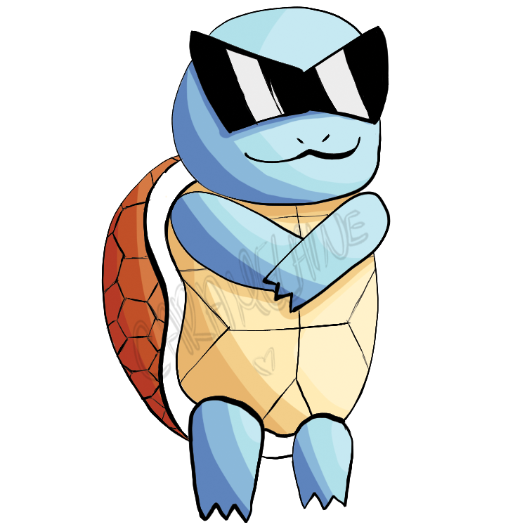 Pokemon Squirtle Squad Leader iphone case
