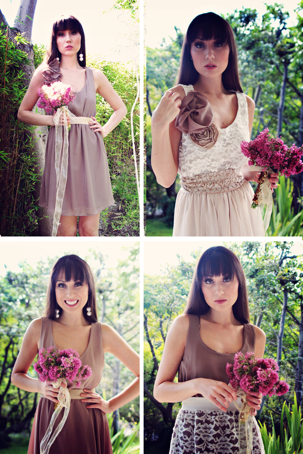 Taupe and ivory country chic bridesmaid dress on storenvy a30small ombrellifo Choice Image