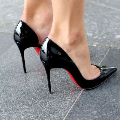 2020 new black pointy stiletto heel women hot sales