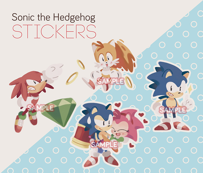 Sonic The Hedgehog Stickers On Storenvy