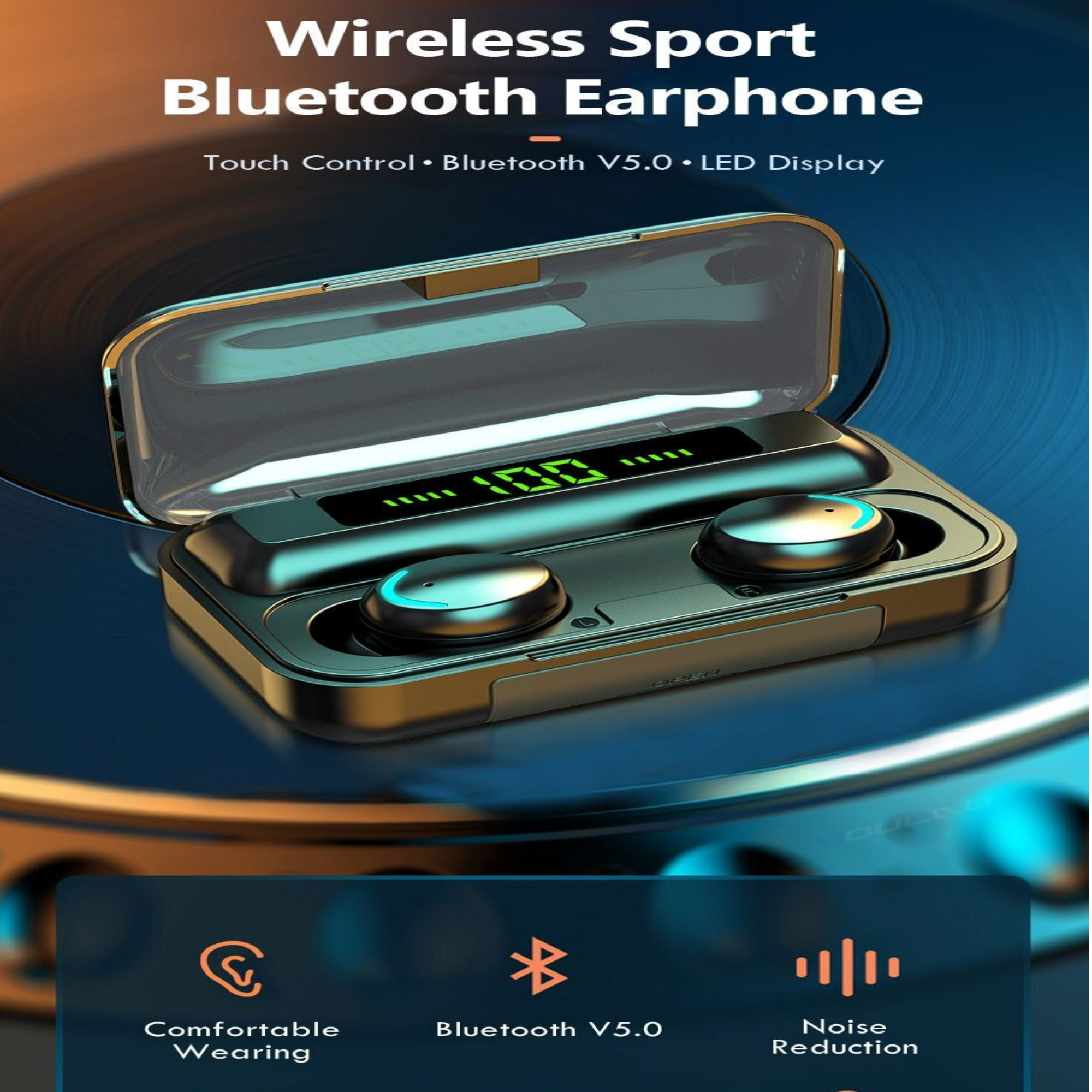 Ws Bluetooth 5 0 Earphones 2200mah Charging Box Wireless Headphone 9d Stereo Sports Waterproof Earbuds Headsets With Microphone Sold By Ouais On Storenvy