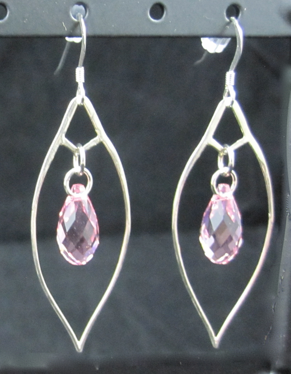 0e289a3bc839d E109SS-C Sterling Silver & Swarovski Crystal Earrings - with 5 colour  choices from Cassamore Jewellery