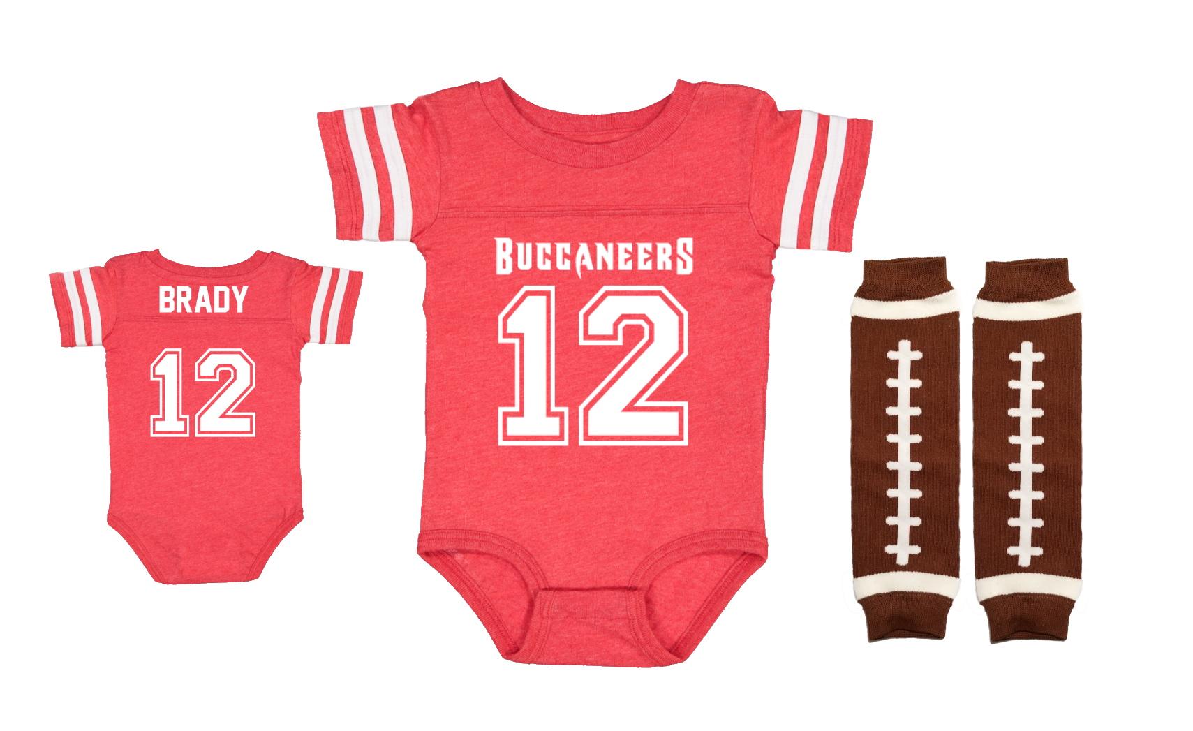 Tom Brady Tampa Bay Buccaneers Uniform Onesie Jersey