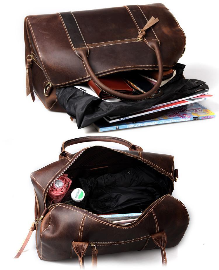 e4503c1a78 Handmade Vintage Leather Duffle Bag