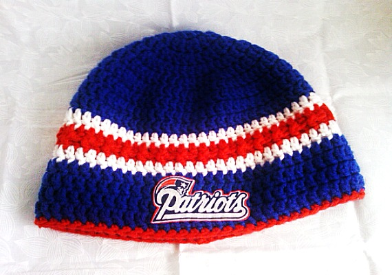 New england Patriots inspired crochet hat on Storenvy 40f732ee0aa