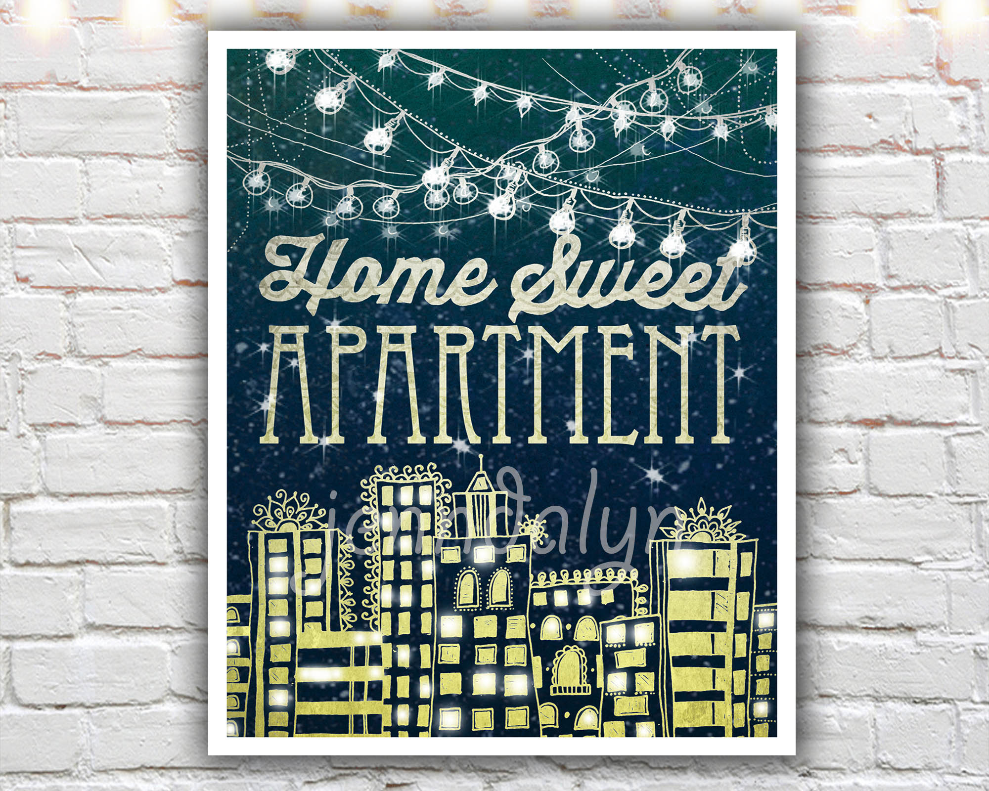 Home Sweet Apartment 16 X 20 Paper Print Apartment Decor