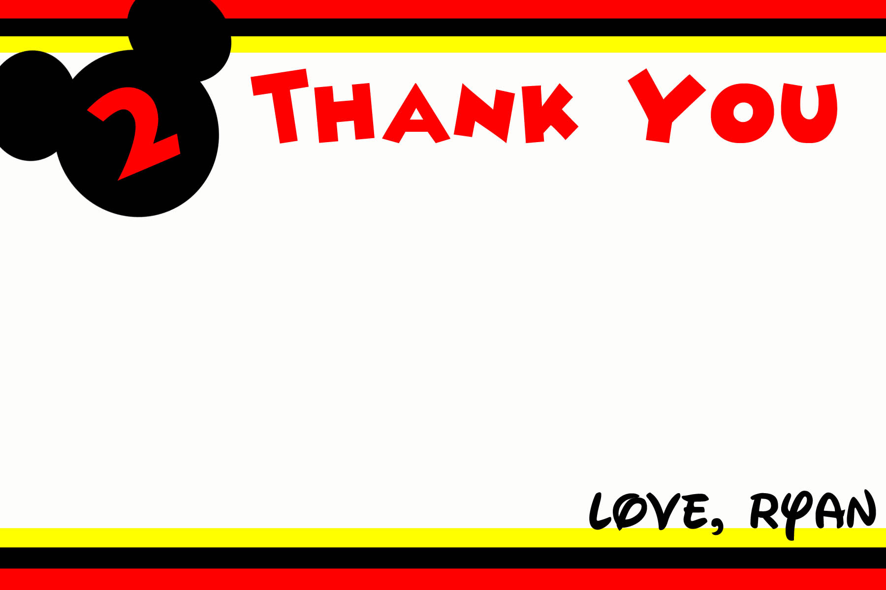 Fantastic Mickey Mouse Thank You Cards · That's What Che Said The Shop  PI22